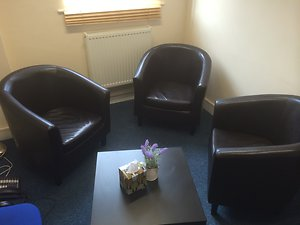 Counselling Rooms Gallery. brownchairs
